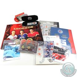 Estate Lot of NHL Hockey Medallion & Stamp Sets. You will receive a Complete Set of Canadian Legends