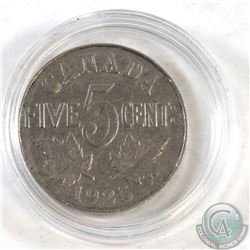 1925 Canada George V 5-cent in protective Capsule.