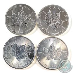 2012, 2013, 2014, & 2015 Canada $5 1oz Silver Maples (Tax Exempt). Please note coins contain milky t