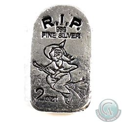 Limited Edition Tombstone Witch 2oz. Hand Poured Silver Bar (Tax Exempt)