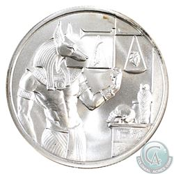 Anubis 2oz 999 High Relief Fine Silver Round (Tax Exempt). Please note the coin has light toning.