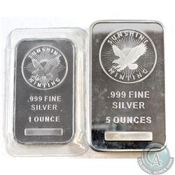 Sunshine Mint 5oz & 1oz Fine Silver Bar (Tax Exempt)