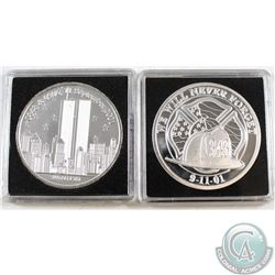 Pair of 9/11 Firefighters - We will Never Forget 1oz Fine Silver Rounds (Tax Exempt) 2pcs