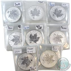 Lot of 2016 Canada $5 Privy 1oz Silver Maples (Tax Exempt). You will receive Bigfoot, Yin Yang, Monk