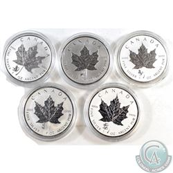 2012-2016 Canada $5 Privy 1oz Silver Maples (Tax Exempt). You will receive the 2012 Dragon, 2013 Sna