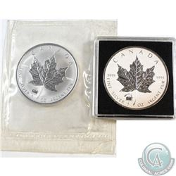 1998 & 2012 Canada $5 Titanic Privy Fine Silver Maples (Tax Exempt). Please note 2012 is lightly ton