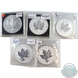 2012-2016 Canada $5 Privy 1oz Silver Maples (Tax Exempt). You will receive the 2012 Pisa, 2013 Snake