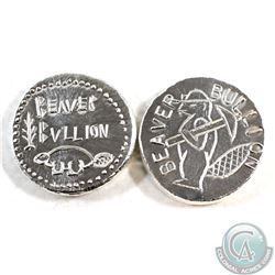 Pair of Beaver Bullion 1oz Fine Silver Rounds (Tax Exempt) 2pcs.