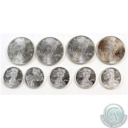 Lot of 1/4 & 1/10 oz United States Walking liberty Fine Silver Rounds (Tax Exempt). You will receive