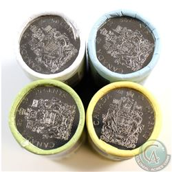 2013, 2014, 2015, & 2016 Canada Special Wrapped 50-cent Original Roll of 25pcs. 4pcs