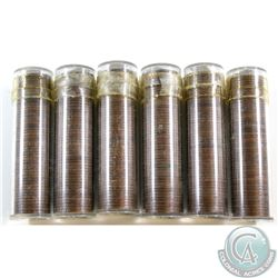 Estate Lot of 6x 1939 George VI Canada 1-cent Roll of 50pcs as stated on holder. Sold as is, No Retu