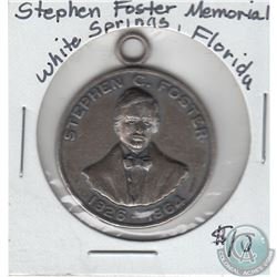 1826-1864 Stephen Foster Memorial White Springs, Florida Commemorative Token. 29mm (Mounted)