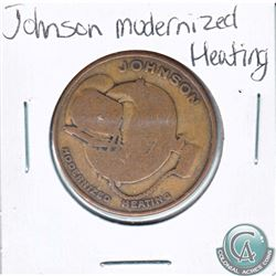 Johnson Modernized Heating Token. Diameter 29mm