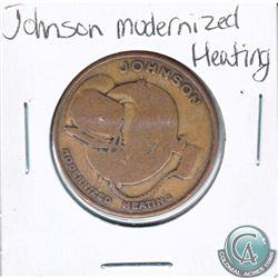 Johnson Modernized Heating Token. Diameter 29mm