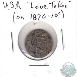 Love Token struck on 1876 USA dime