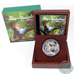 2016 Niue 65th Anniversary of Alice in Wonderland Silver Proof Coin, issued by the New Zealand Mint