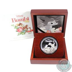 2017 Niue $2 75th Anniversary of Bambi Fine Silver Coin (No Tax)