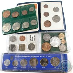 Lot of 5x Miscellaneous World Coin Sets: 1973 Israel's 25th Anniversary 6-coin Mint Set, Britain's F