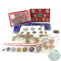 Estate Lot of 13x World Coin Sets: 1965 Mexico 5-coin Set (missing stamp), 2x 1966 Mexico 5-coin Set