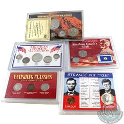 "5x United States Commemorative Gift Sets. This lot includes: 1994 ""Strange but True"" fact about Linc"