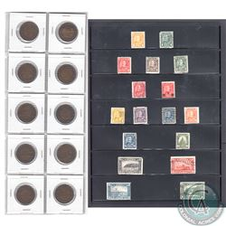 Complete 1911-1920 George V Large Cent Collection Plus 17x Bonus Stamps. This lot includes 10x 1-cen