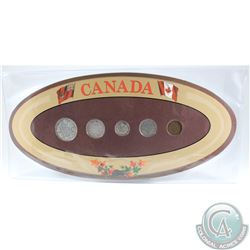 1934 Canada 5-coin Year Set in Decorative Holder