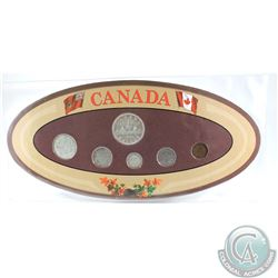 1936 Canada 6-coin Year Set in Decorative Holder