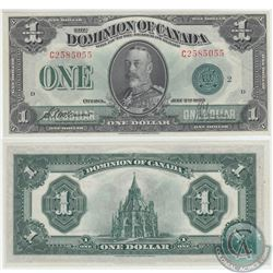 1923 Dominion of Canada DC-25J  McCavour-Saunders Green Seal, Series C Group 2 Banknote in UNC