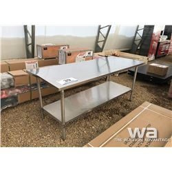 """30X72"""" STAINLESS STEEL TABLE"""