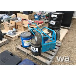 (4) PAILS ENGINE & GEAR OIL