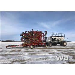 2004 BOURGAULT 5710 SERIES II AIR DRILL, 6550 CART