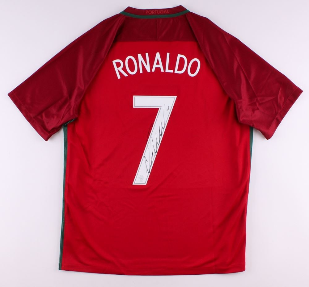 check out 67357 f386d Cristiano Ronaldo Signed Authentic Portugal Soccer Jersey ...