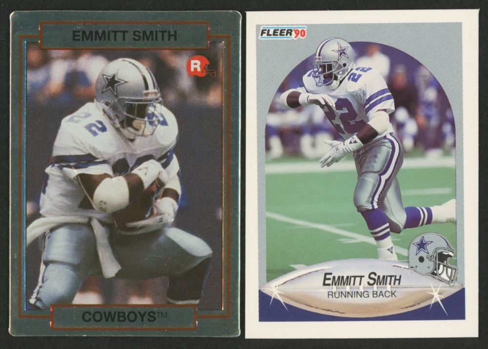 Lot Of 2 Emmitt Smith Rookie Cards With 1990 Fleer Update U40