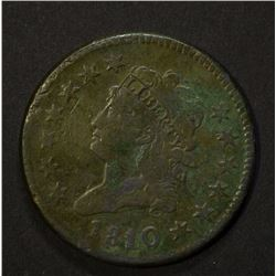 1810/09 CLASSIC HEAD LARGE CENT, VF corrosion
