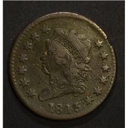 1813 CLASSIC HEAD LARGE CENT, FINE  few marks