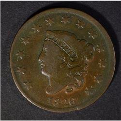 1826 LARGE CENT, FINE