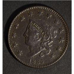 1834 LARGE CENT DOUBLE PROFILE AU porosity