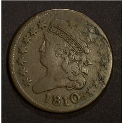 1810 DRAPED BUST HALF CENT, F/VF