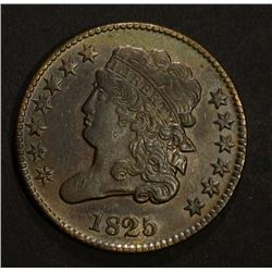 1825 CLASSIC HEAD HALF CENT, AU/BU