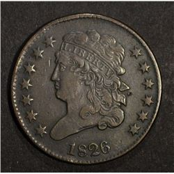 1826 CLASSIC HEAD HALF CENT, XF