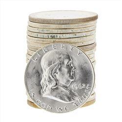 Roll of (20) 1962-D Brilliant Uncirculated Franklin Half Dollar Coins