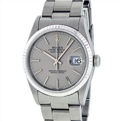 Rolex Stainless Steel Datejust Mens Wristwatch