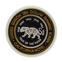 .999 Silver Sam Boyds California Hotel $10 Casino Limited Edition Gaming Token