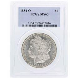 1884-O $1 Morgan Silver Dollar Coin PCGS MS63