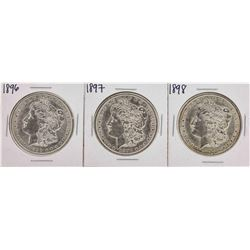 Set of 1896-1898 $1 Morgan Silver Dollar Coins