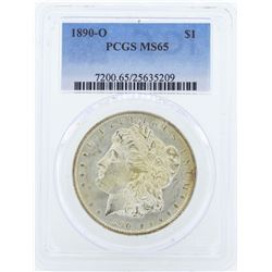 1890-O $1 Morgan Silver Dollar Coin PCGS MS65