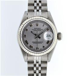 Rolex Ladies Stainless Steel Datejust Wristwatch