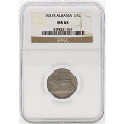 1972R Albania 1/4 Leku Coin NGC MS63