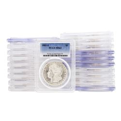 Lot of (20) 1881-S $1 Morgan Silver Dollar Coins PCGS MS63