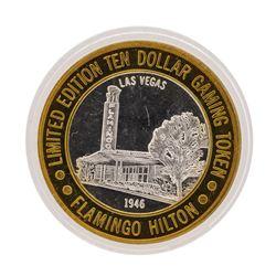 .999 Silver Flamingo Hilton Las Vegas, Nevada $10 Casino Limited Edition Gaming
